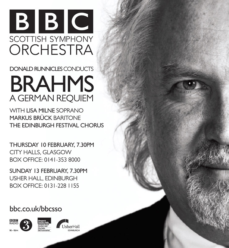 Donald Runnicles Brahms Poster